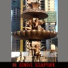 plaze fountain bronze sculpture
