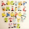 Wooden Cartoon English Letters Refrigerator Magnet