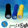 9 super bright white led plastic torch