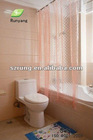 3D EVA Transparent Eco-friendly Waterproof Shower/Bath curtain