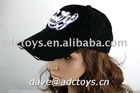 100% Cotton Black Striped 3D Embroidery Frayed And Washed Fashion Cheap Ladies Summer 6 Panels Baseball Sports Cap