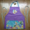 beautiful cartoon printing polyester apron for kids