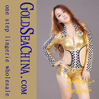 WM123-W golden sex racing costume for women sexy racing girl costume
