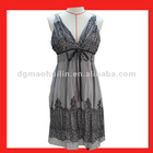 new fancy lady designs polyester middle long dress