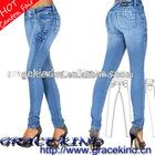 2012 Hotsale 98% Cotton 2% Spandex Brazilian Jeans Butt Lifter Sexy Women Jeans (GKCL080)