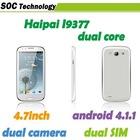 4.7'' MTK6577 Unlocked celular Haipai i9377 OS 4.1 dual core 1.2GHz GPS BT 3G WCDMA dual sim cell phone