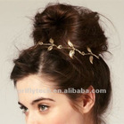 hair jewelry gold leaf headband elastic headbands bulk sale