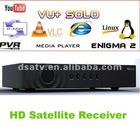 2012 Vu+ SOLO Single Tuner HD PVR DVB-S2 Vu Satellite Receiver vu receiver vu solo receiver vu solo freee shipping vo solo
