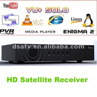 2012 Vu+ SOLO Single Tuner HD PVR DVB-S2 Vu Satellite Receiver vu receiver vu solo receiver vu solo freee shipping vo solo