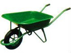 Single rubber wheel hand-wheel barrow
