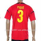2012 Europe Spain Pique Soccer Jerseys