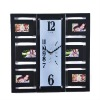 Wall Photo Frame With Long Square Quarz Clock Insert