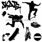 Removable vinyl skating borad wall sticker