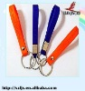 2011 hot selling heart shaped rubber keychain