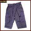 check printing boys summer pants kids wear boys trousers
