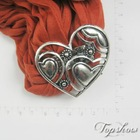 magnetic 2012 new scarf jewelry heart design