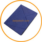For iPad3 Foldable PU Leather Case Stand Function Blue from dailyetech