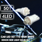 2x CAR LED 501 T10 W5W WHITE XENON SIDE LIGHT BULBS W4