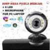 Web Cam + Mic 8MP Mega Pixel 6 LED 10X digital zoom