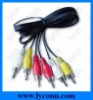 Audio Cable with 3RCA Cable assembly