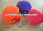 2012 hot sale waterproof heart shape silicone wallet for coin and key