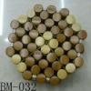 hot sell handmade natural bamboo mat table Square block design bamboo bamboo mattresses charcoal bamboo pad handmade