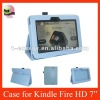 Smart Cover Leather Case For Kindle Fire HD 7'',Blue