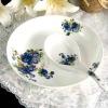 love shape hot sale good looking Decal porcelain ceramic dinnerware plates