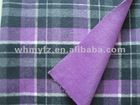 yarn dyed check plaid woolen double face fabric for clothes garment new design
