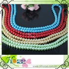 wholesale 8mm high quality glass pearl bead strands