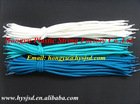 polyester rope with transparent plastic tips for shopping bag handle