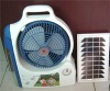 solar cooling fan with LED light