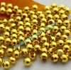 8mm Round Gold Color Metal Brass Bead