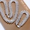 925 EP Silver Vogue Fish bone Necklace&Bracelet Size 18/7.5