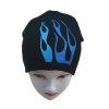 100% acrylic plain knitted beanie hat with print