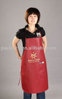 Red promotional apron in TNT 80gsm