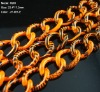orange color with black lines pattern chains