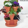 Plastic Stackable terracotta Planter Pot