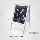 A frame board poster board A frame stands