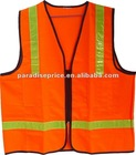 Safty vest knited fabric with PVC tape