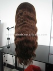 Cheap wavy affordable wigs 100% Indian remy hair 4# natural wavy lace wigs in stock Fast Shipping