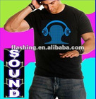High quality sound activated led t shirt