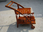 KD wooden hand trolley manufacturer with tray