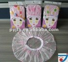 Factory manufacture 100% waterproof PEVA printed Hair Cap
