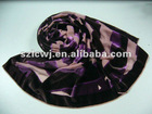 Latest design burntout silk velvet fashion scarf