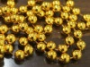 Jewelry/Plated bead chain jewel, 8mm Diameter golden bead suitable for christmas tree ornament accessory
