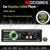 Detachable panel deckless Car Radio/USB player with RDS