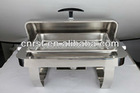 Silver Visible Stainless Steel Oblong Banquet Chafing Dish