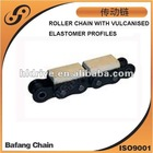 Roller Chain with Vulcanized Elastomer Profiles