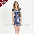 2012 summer casual dress,peacock dress,sundress,S12015